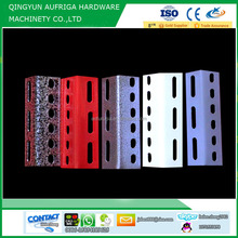 Low price Spray Painting Slotted angle racking iron