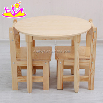 Wholesale Cheap Primary School Wooden Kids Round Table And Chairs For Study  W08G232