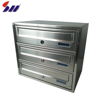 Cheap price wholesale stainless steel metal mailbox for letters
