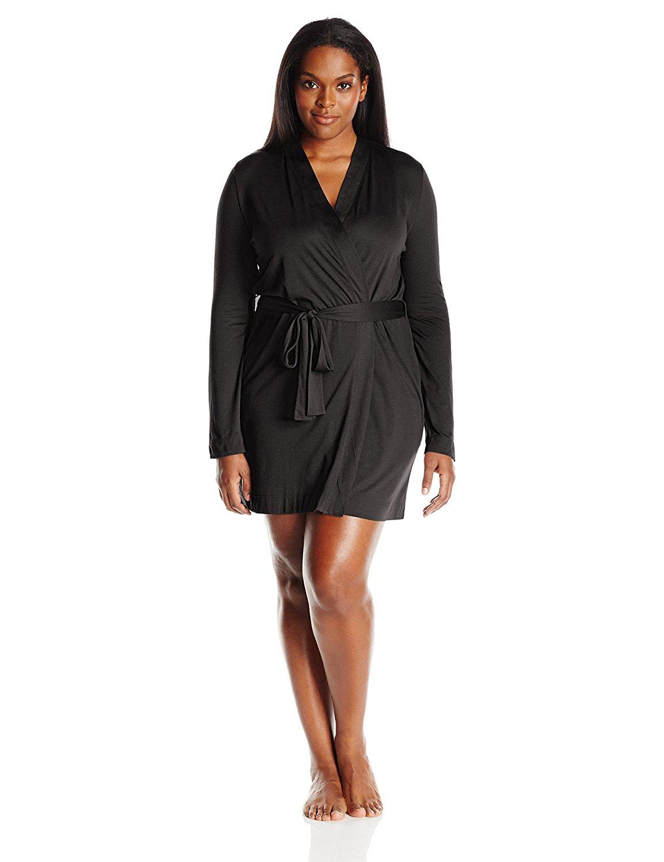 Yummie Heather Thomson Womens Plus Size Pima Jersey Short Robe