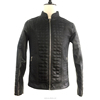 custom jacket thick cotton padded quilted square seam winter bomber leather jacket for ment