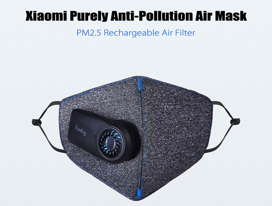 Xiaomi Purely Anti-Pollution Air Mask Purifier HEPA Filter Anti Dust Smog PM2.5