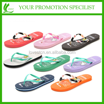 Rubber material new fuzzy sandals women flip flops