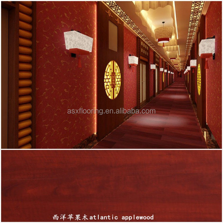 3-5mm thickness 0.3mm top layer wooden structure 100% vinyl click system PVC floor