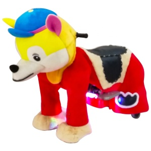 2018 Top Selling Animal Ride Large Plush Rides Toy On Wheels Coin Operated Kids Animal Ride With CE