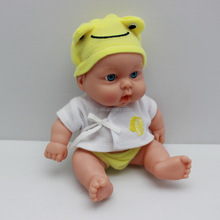 China factory made vinyl mini baby doll with solid body and movable limbs
