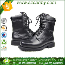 Mens military lace up worm fur lined army combat winter boots