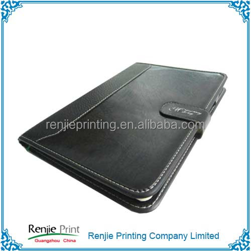 Customized Print Promotion Moleskin PU Leather Notebook Leather Diary