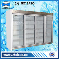 Supermarket built-in compressor glass door reach in freezer
