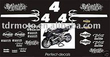 motorcycle decal , sticker