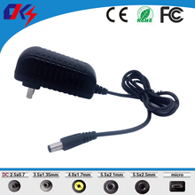 AC100~240V EU US plug DC 12V 2A switching power supply adapter 5.5*2.5mm for led strip light, LCD Monitor TV Box