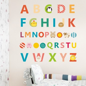 Graphic Alphabet Letters Kids Room