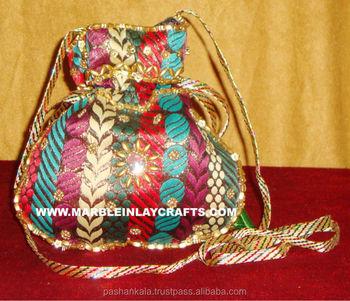 Fashionable Banjara Zari Hand Embroidery Women S Party Purses Buy