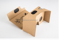 Google cardboard v2, custom logo paper vr 3d glasses for 3.5-6 inch screeny glasses for smartphones universal