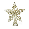 Manufacturer sparkling custom made metal christmas tree decoration topper star