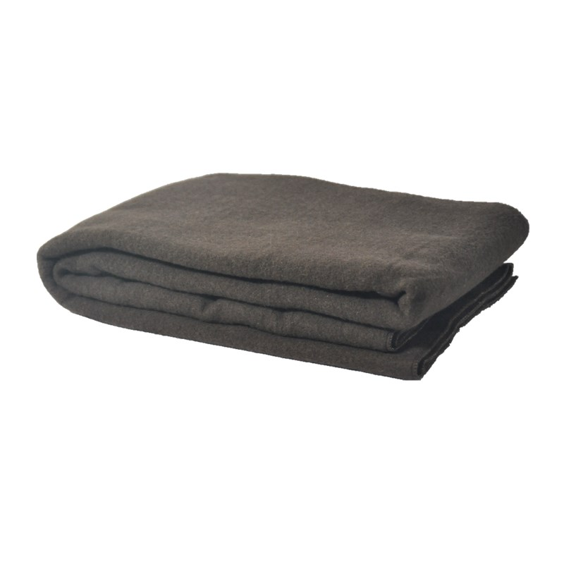 BLUE PHOENIX brown color cheap factory price army wool acrylic military blanket