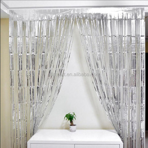 3ft*17ft Tinsel Metallic Foil Fringe Curtain for Party Wedding Birthday Door Decoration