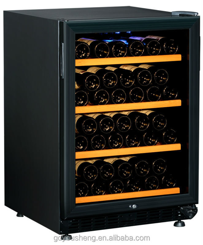 2014 New wholesale mini refrigerator red wine cooler wine chiller fridge USF-54S(54 bottles 154L)