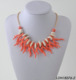 Fashion coral red String shells Statement necklace multi strand coral branch mermaid women necklace