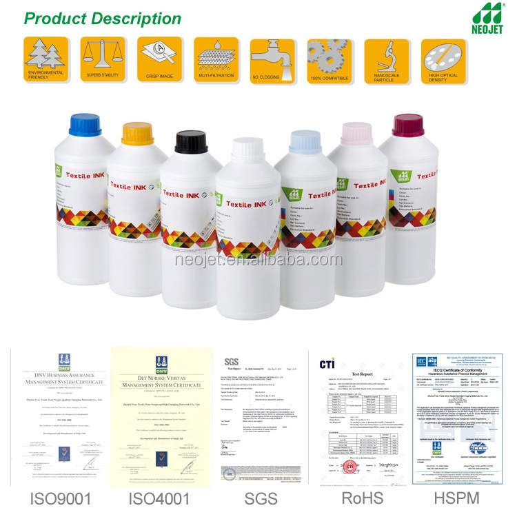 Polyester T shirt heat transfer dye sublimation ink for Epson DX5 DX7 printer