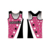 Normzl Latest Red Cheerleading Womens Sports Vest Top Set
