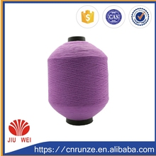 Dope dyed cotton 100%polyester yarn count polyester yarn