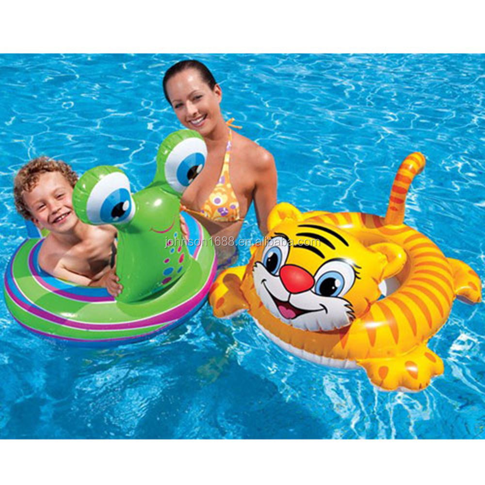 Inflatable Tiger Snail Animal Baby Seat Pool Float With Handle Water ...