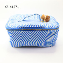 Hot Jual Biru Perjalanan Kanvas <span class=keywords><strong>Kosmetik</strong></span> Make Up Tas