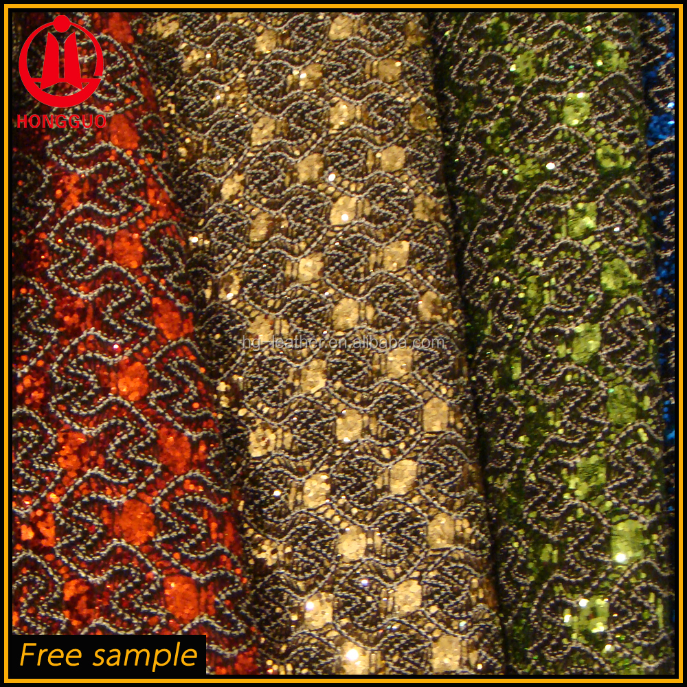 Special And Fashion Glitter And Lace Fabric For Shoes Bags Upholstery Used