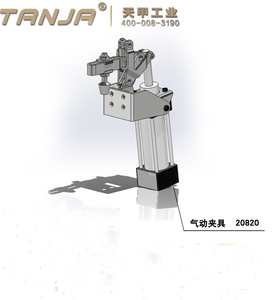 TANJA F20820 pneumatic powered air welding pipe toggle clamp