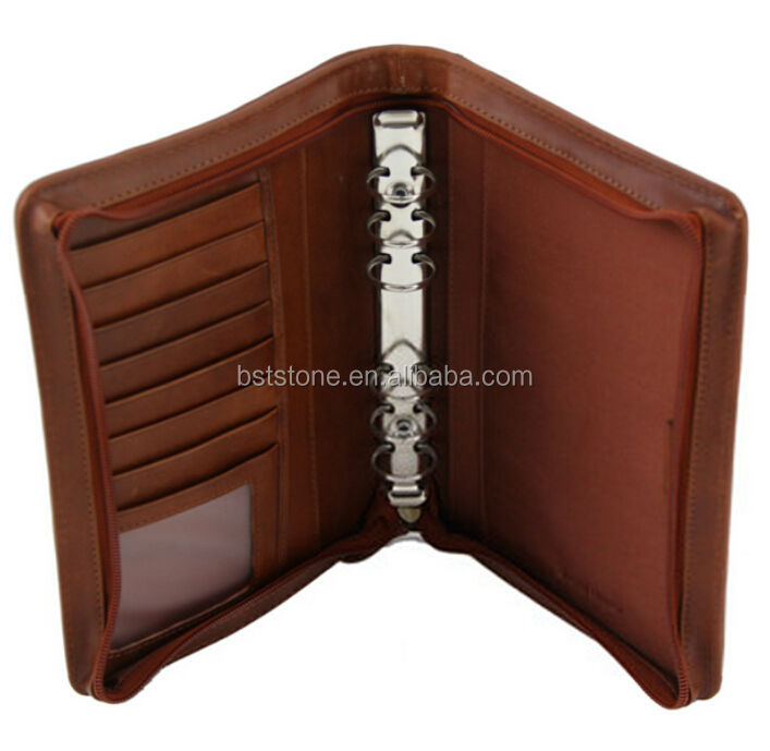 Tuscany A4 Leather Bound Folder พร้อมซิป