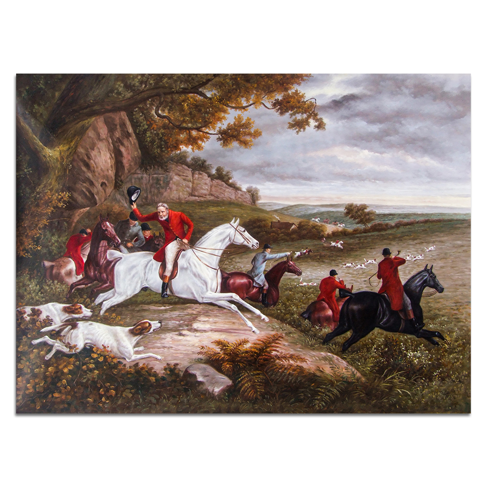 Dafen village Artists Handmade Classical European Famous Royal Hunting Oil Painting Reproduction