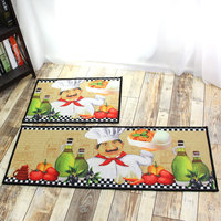 Slip Non Washable Kitchen Runner Rug Rubber Doormat Set