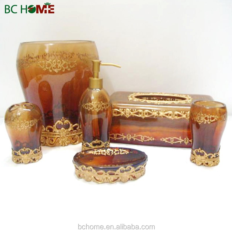 2015 New design custom polyresin complete bathroom sets
