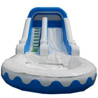 large inflatable water slide with pool/ water slide for adult and kids,commercial inflatable pool types water slide for sell