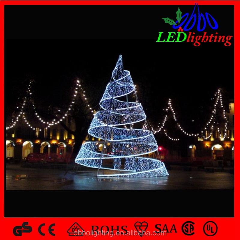 Led rbol de caracol blanco iluminado navidad exterior - Arbol navidad led ...