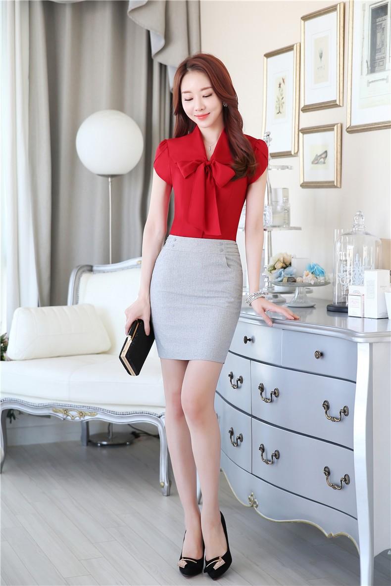 acheter uniforme de bureau de mode d 39 t con oit des costumes d 39 affaires de femmes avec la jupe. Black Bedroom Furniture Sets. Home Design Ideas