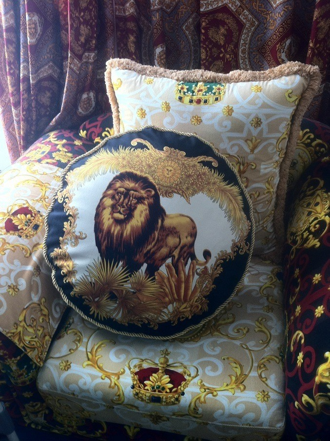 20'/27' Lion Pattern Top quality imperial sofa cushion luxury home decorative soft pillow