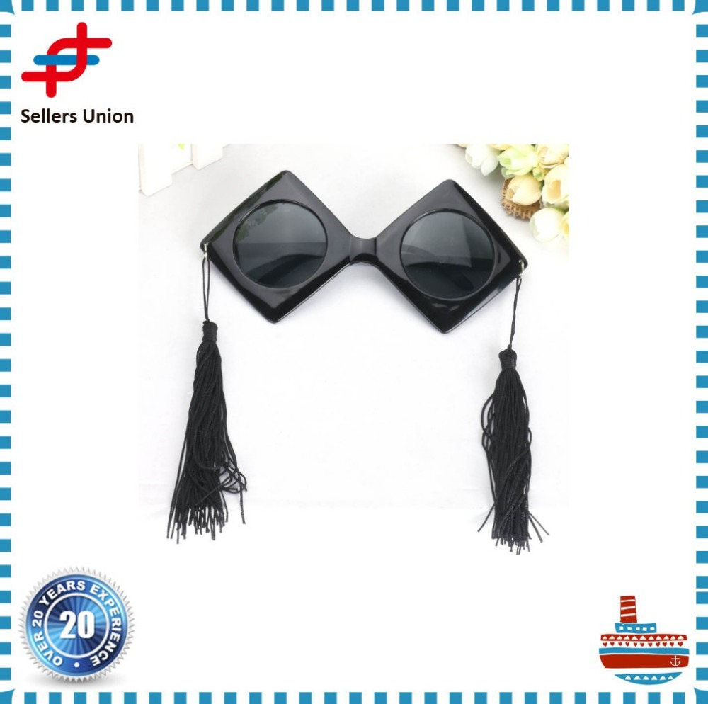 Popular square college cap eye glasses for graduation