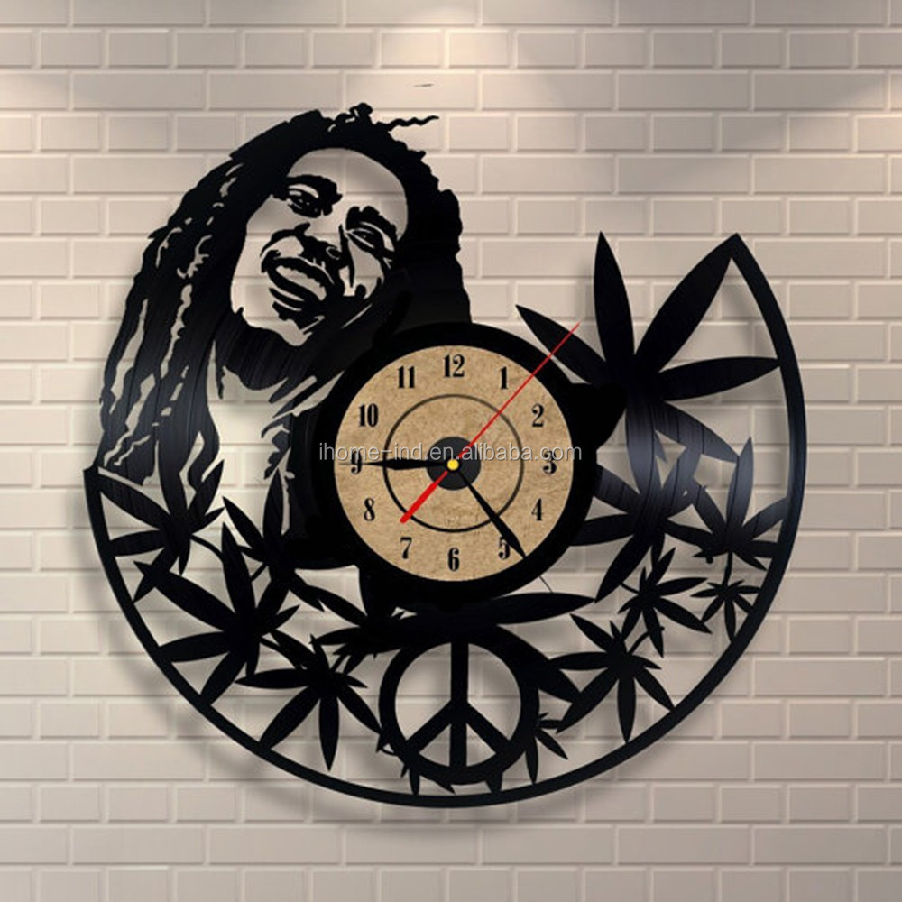 Hot sales Vinyl Record Clock of wars vinyl wall clock