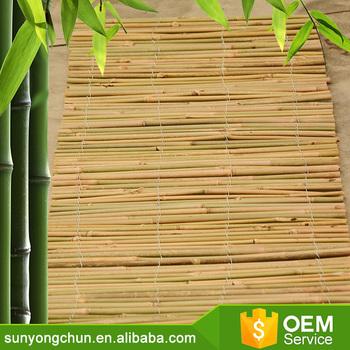 fabrication originale de barrière verte panneau de clôture en bambou