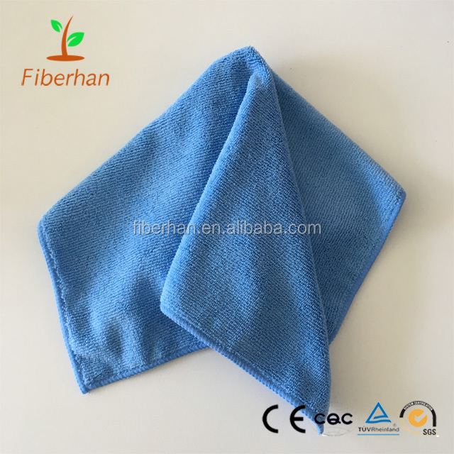 30cmX30cm Microfiber towel car cleaning washing cloth woven microfiber cleaning towel for wholesale