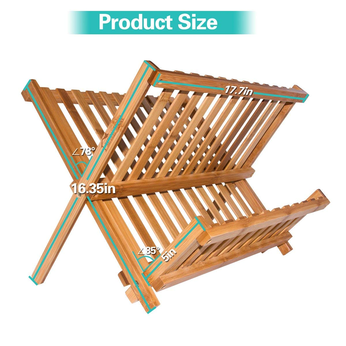 bamboo dish drying rack BR-18070615 Details 5