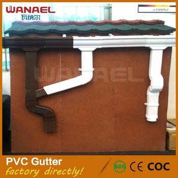 Foshan Wanael Rectangular Pvc Rain Collector Roof Gutter