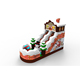 Commercial Christmas Snowman inflatable castle slide dry combo houncer for kids
