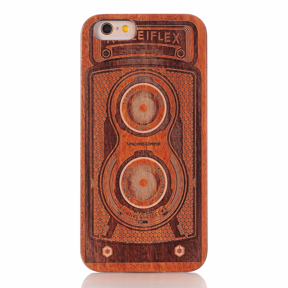 Oem wood engraving cell phone case for iphone 6s