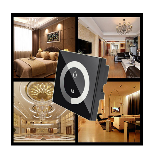 Smart household glass panel led dimmer touch light switch