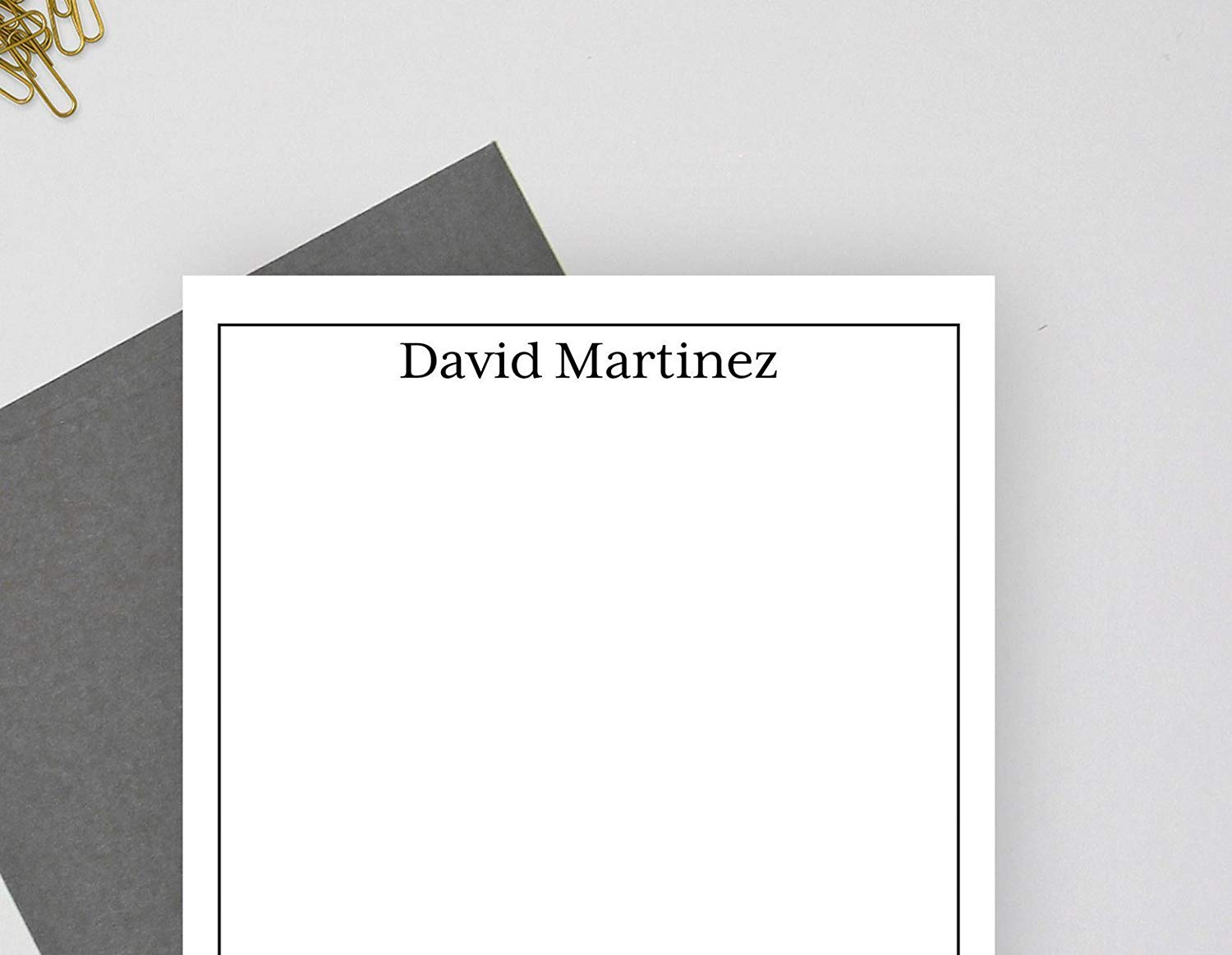 Embossed Personalized Note Cards