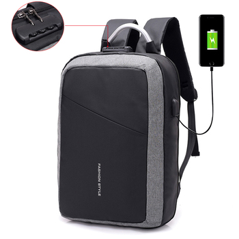 Anti-theft USB charging men briefcase notebook bags business laptop backpack