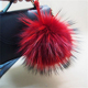 fluffy hot sale fur ball mink fur ball keychain